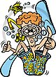 Hawaiian Snorkeler Illustration 1 Clip Art