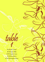 Orchid Sketch Table Tent