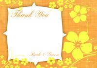 Hibiscus Shower Thank You Card