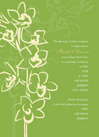 Green Orchid Sketch 3 Invitation