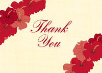 Hibiscus Lei Thank You Card