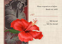 Hibiscus For You Response Card