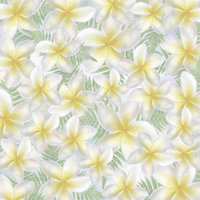 B08 Blue Plumeria Scatter Large 8x8 Paper