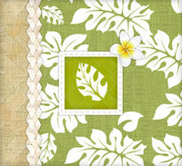 Tropical Leaves 8x8 Album - ON SALE! ($21 Regular Price)