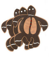 Gingerbread Honu Laser Cut