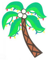 Christmas Coconut Tree Laser Cut