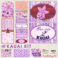 12x12 Kauai Scrapbooking Kit