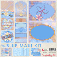 8x8 Blue Maui Scrapbook Kit