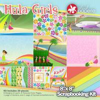 8x8 Hula Girls Kit