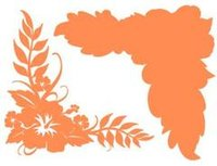 Hibiscus Corner Carrot on Carrot Laser Cut